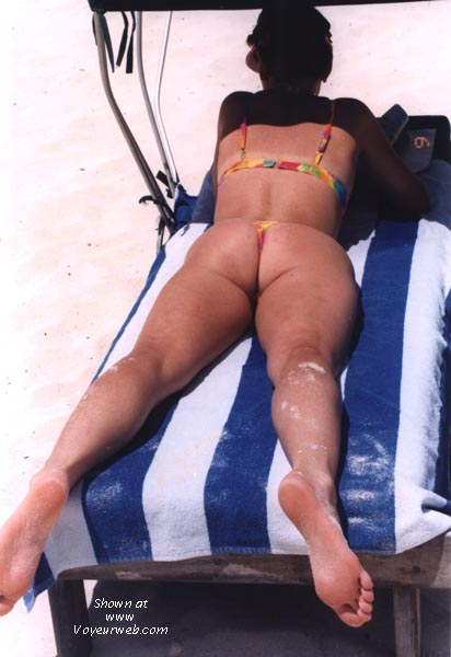 Pic #1 - wife in various thong bikinis
