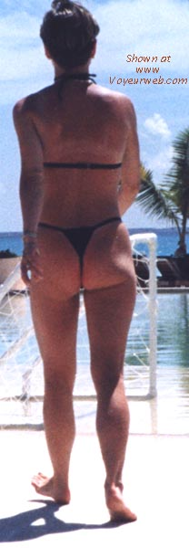 Pic #4 - wife in various thong bikinis
