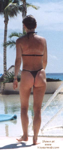 Pic #5 - wife in various thong bikinis