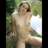 Blonde Hair - Blonde Hair, Naked Outdoors, Spread Legs