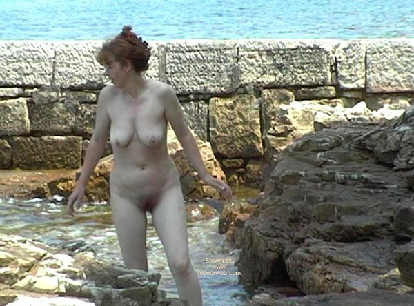 Pic #1 - Valery On A Rocky Coast.
