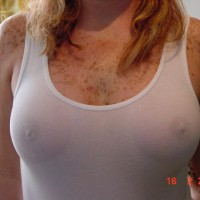 Nipples Errect Through Shirt - Freckles, Hard Nipple