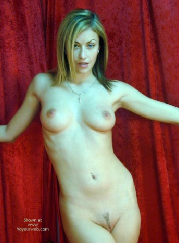 Pic #1 - Naked Brunette - Naked Brunette , Naked Brunette, Cross Necklace, Landing Strip