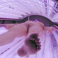Friend Of My Wife In Tanning Bed