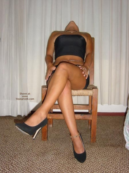 Pic #1 - Black Mini Skirt And High Heels