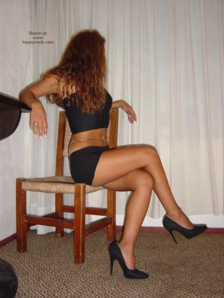 Pic #2 - Black Mini Skirt And High Heels