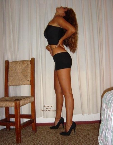 Pic #6 - Black Mini Skirt And High Heels