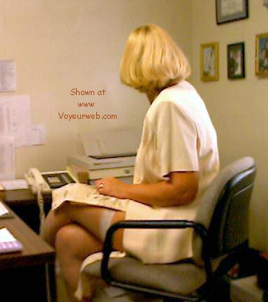 Pic #1 - Phoebe at the office, part 1