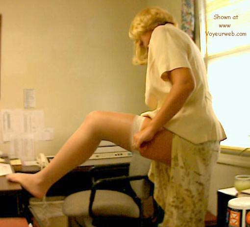 Pic #2 - Phoebe at the office, part 1