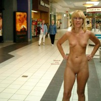 Unaware Audience - Glasses, Nude In Public, Shaved Pussy