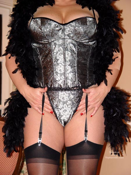 Pic #2 - Curvy Kay : Silver & Black Bustier