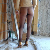 Fishnet Tights - From Behind, Long Legs