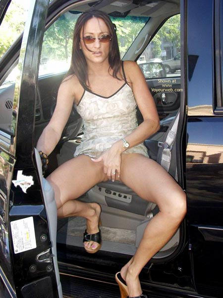 Pic #3 - Michelle In A Public Parking Lot