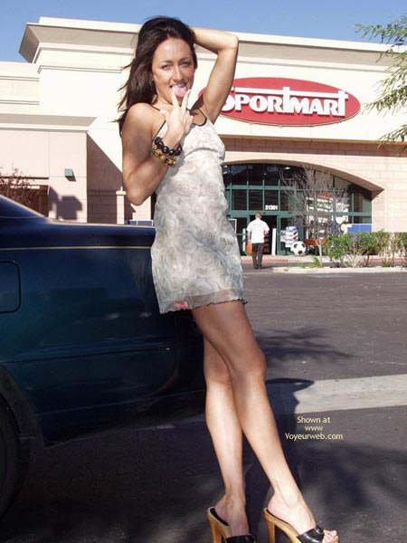 Pic #8 - Michelle In A Public Parking Lot