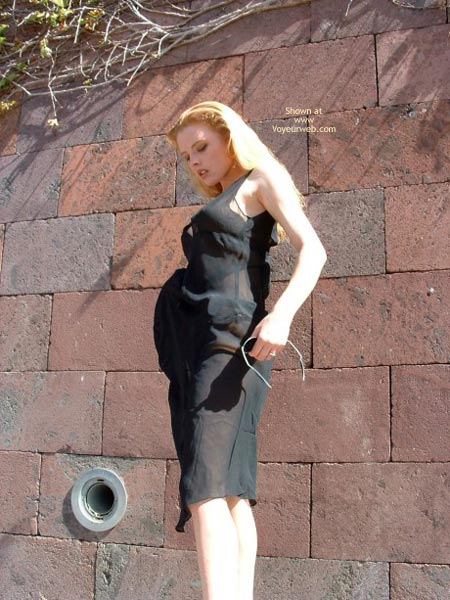 Pic #3 - Blonde Babe In Outdoor Theatre