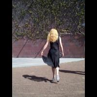 Blonde Babe In Outdoor Theatre
