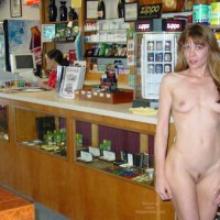 Nude At Local Shop - Small Tits