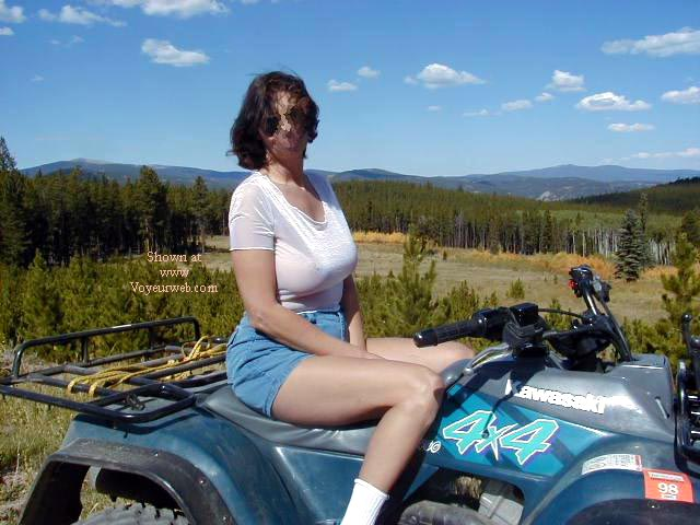 Pic #1 - KATE ON THE 4 WHEELER