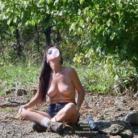 Topless - Nude Outdoors, Perky Tits, Topless
