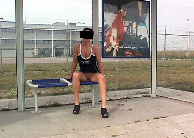 Pic #2 - Anouk is waiting for the bus...............