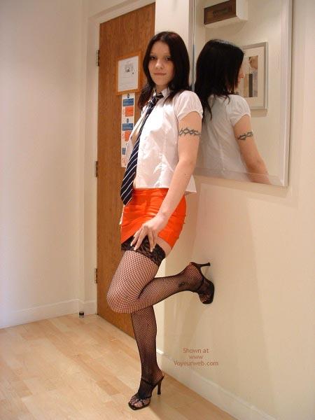 Pic #3 - Maria In Micro Mini Skirt And Stockings