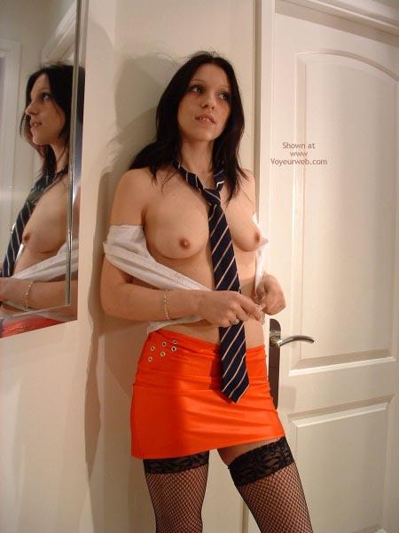 Pic #8 - Maria In Micro Mini Skirt And Stockings