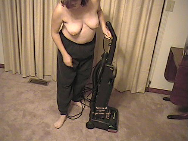 Pic #1 - Wife Working Around House Topless