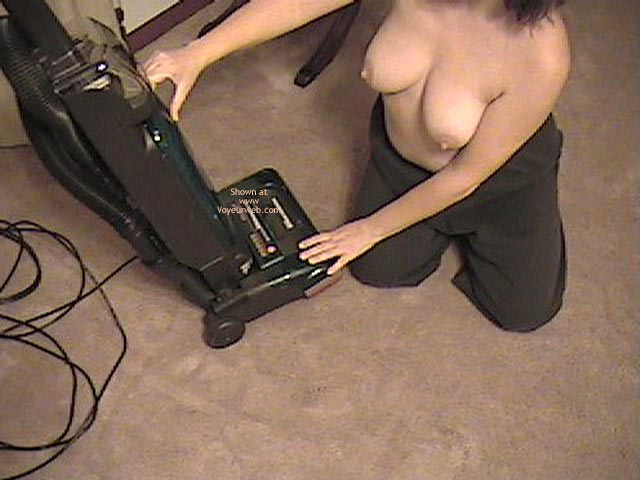 Pic #2 - Wife Working Around House Topless