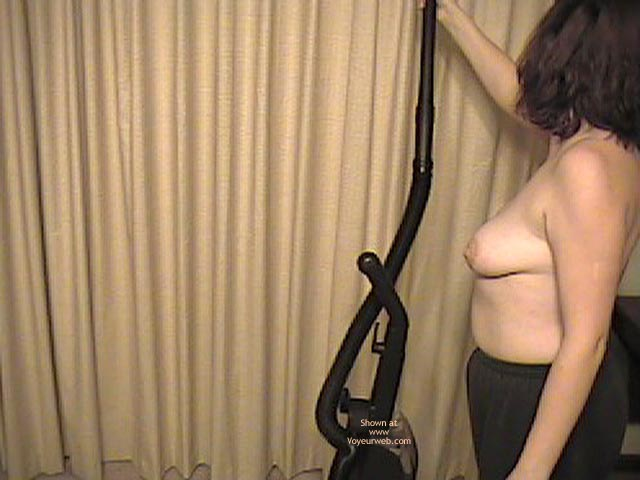 Pic #3 - Wife Working Around House Topless