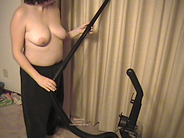 Pic #4 - Wife Working Around House Topless