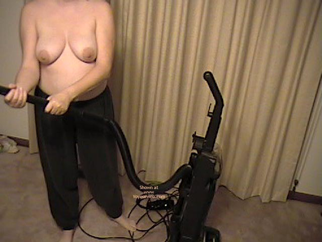 Pic #5 - Wife Working Around House Topless