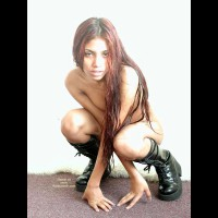 Wild Thing - Artistic Nude, Boots, Long Hair