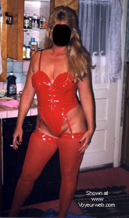 Pic #1 - Naughty's new red outfit.