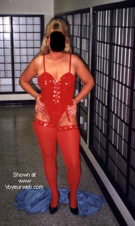 Pic #6 - Naughty's new red outfit.