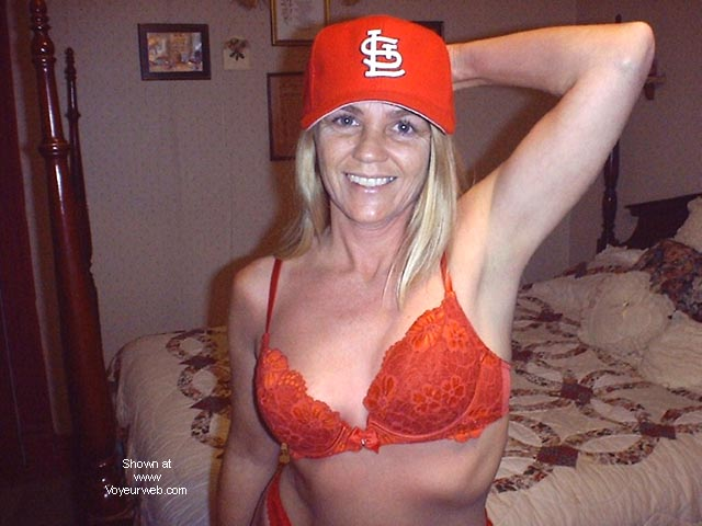 Pic #1 - Bashful .....in Cardinals Red