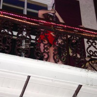 Balcony Upskirts In New Orleans