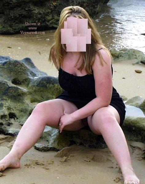 Pic #1 - 21 y/o wife nude on Spanish beach