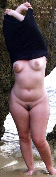Pic #4 - 21 y/o wife nude on Spanish beach