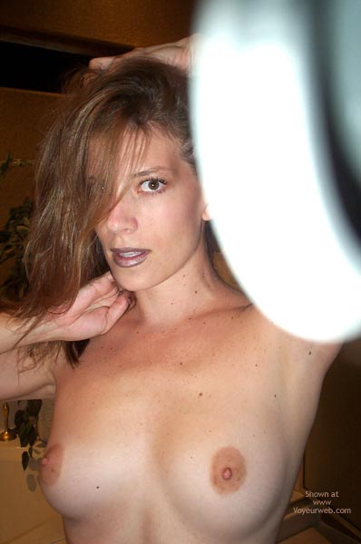 Pic #1 - Topless Closeup, Topless Closeup, Perfect Round Areolas, Identical Orbs, Two Bulls Eyes, Topless Tookens
