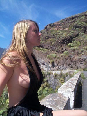 Pic #5 - Hitch-Hiking In A Very Revealing Outfit