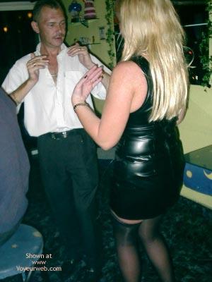 Pic #5 - Leather Mini Dress In Public Bar