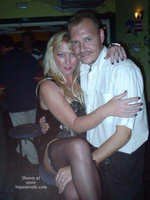 Pic #6 - Leather Mini Dress In Public Bar