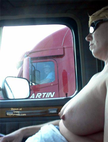 Pic #6 - Rhonda Flashing Truckers