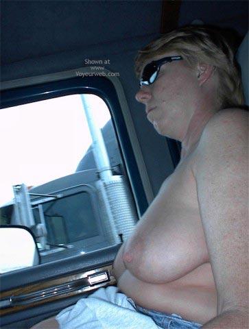 Pic #1 - Rhonda Flashing Truckers
