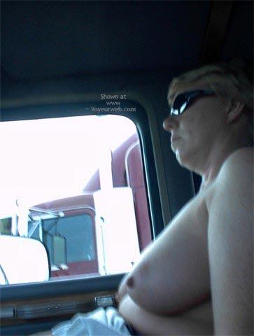 Pic #2 - Rhonda Flashing Truckers