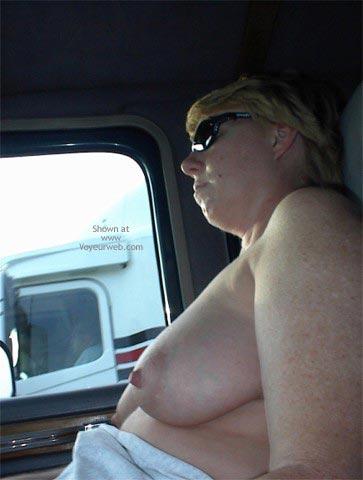 Pic #5 - Rhonda Flashing Truckers