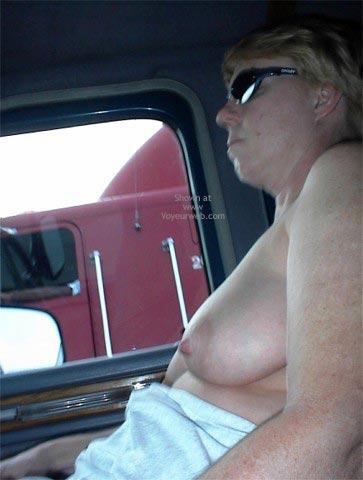 Pic #7 - Rhonda Flashing Truckers