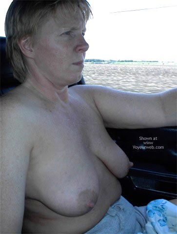 Pic #2 - Rhonda Flashing In The Car