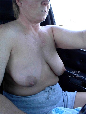 Pic #4 - Rhonda Flashing In The Car