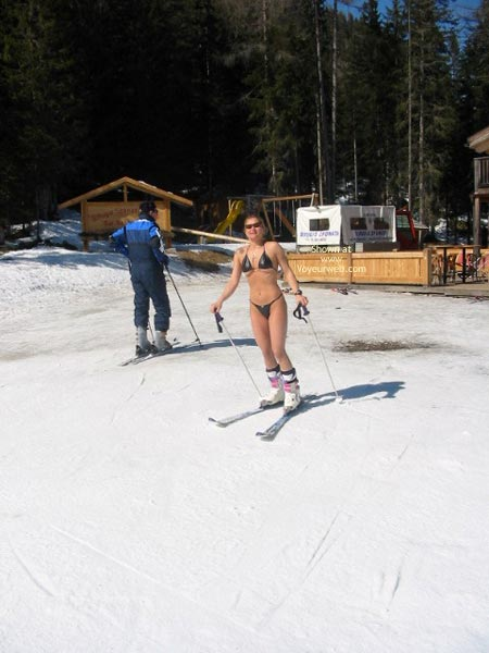 Pic #1 - Elise Skies Among Other Skiers